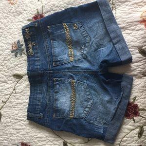 Indigo Rein Shorts - Blue Jean Shorts